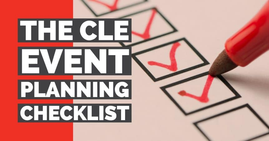 The CLE Event Planning Checklist