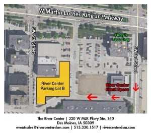 River Center Parking Map